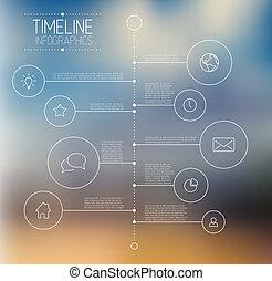 Infographic, timeline, informe, plantilla