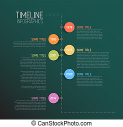 Teal Infographic timeline report template - Vector Teal...