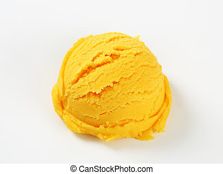 Scoop of yellow sorbet - Scoop of yellow ice cream - studio...