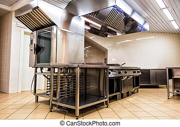 Commercial Kitchen - interior steel kitchen for professional...