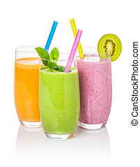 Smoothies from fruit and vegetables