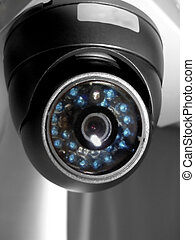 Surveillance Camera - Surveillance camera attached to the...