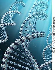 DNA spiral - Very high resolution 3d rendering of a DNA...