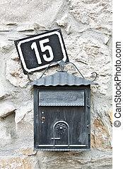 correo, caja, casa, número