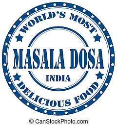 Masala Dosa-stamp - Rubber stamp with text Masala...