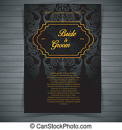 Wedding invitation - Vector illustration (eps 10) of Wedding...