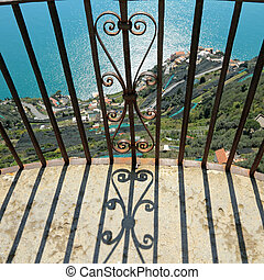 balcony over a cliff on Terrace of Infinity in Vila Cimbrone...