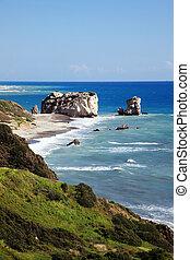Rock of Aphrodite (Petra Tou Romiou) the birthplace of...