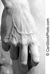 hand of David  by Michelangelo- detail  , Florence,  Italy