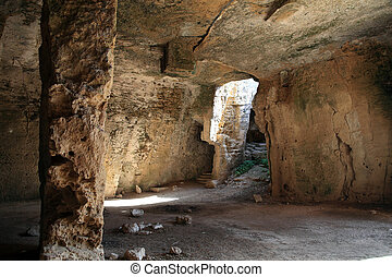 Christian Catacombs, Paphos, Cyprus - Christian Catacombs at...
