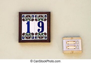 House Number With A Door Bell