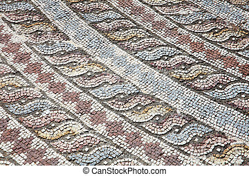 Roman mosaic - Corner decoration from the Roman mosaic of...