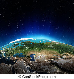 Russia Elements of this image furnished by NASA