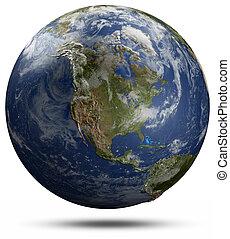 Earth globe - North America