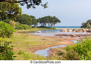 Yala National Park in Sri Lanka - Ocean view from Yala...