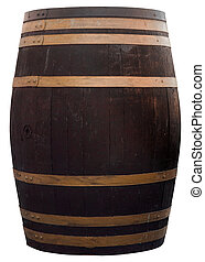 barrel - old wooden wine barrel