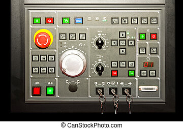 Control buttons - Electronic control panel with bunch of...