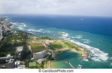 Aerial view of Northern Puerto Rico - Aerial view of the...