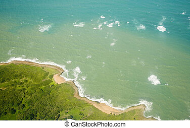 Aerial view of North coast Puerto Rico - Aerial view of the...