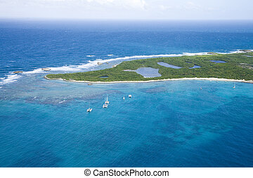 Aerial view of Icacos Island Puerto Rico - Aerial view of...