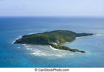 Palomino Island from the air Puerto Rico.