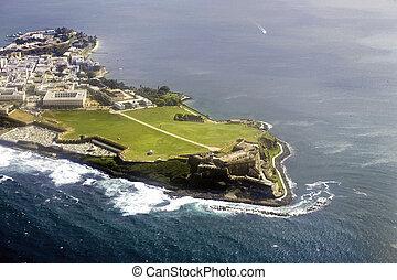 Aerial view of El Morro Puerto Rico