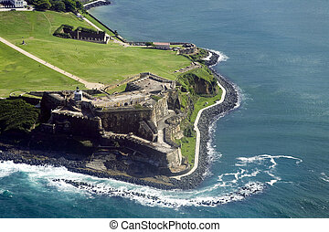 Aerial view of El Morro Puerto Rico - Aerial view of El...
