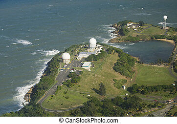 Aerial view of Radome antenna Northern Puerto Rico - Aerial...