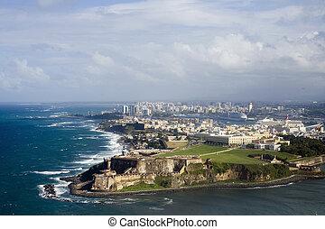 Aerial view of El Morro Puerto Rico - Aerial view of El...