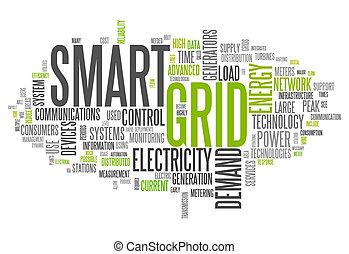 Word Cloud Smart Grid - Word Cloud with Smart Grid related...