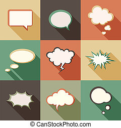 Speech bubbles - Vector set different retro styled speech...