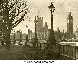 Houses of Parliament - Vintage Antigue Picture of the Houses...