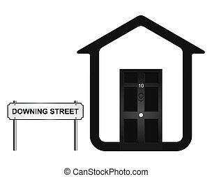 Downing Street - Monochrome concept of ten Downing Street...
