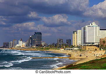 Tel Aviv - View of the Tel Aviv, Israel. Day.