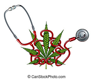 Marijuana Health Care challenges concept as a doctor...