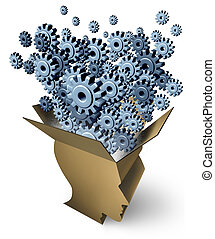 Brain Function and outside the box thinking as a cardboard...