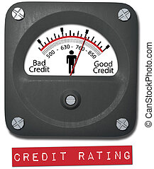 Meter good credit rating report person - Meter measures good...
