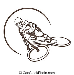Bicycle Downhill Symbol