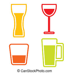 Drinking glass collection vector - image of Drinking glass...