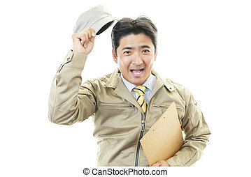 Courier Service - courier service man smiling happy