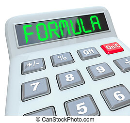 Formula Word Calculator Math Problem Figure Answer - Formula...