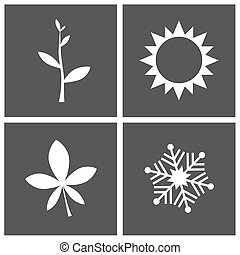 Four Seasons - Vector illustration - four season concept...