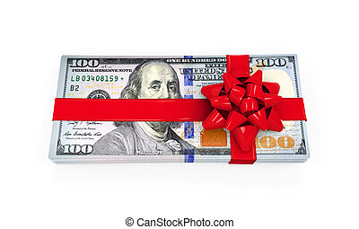 Money Gift isolated on white background. 3D render
