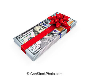 Money Gift isolated on white background 3D render