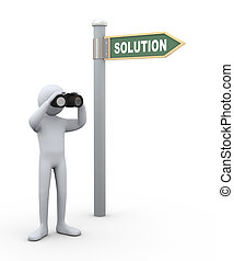 3d person with binocular
