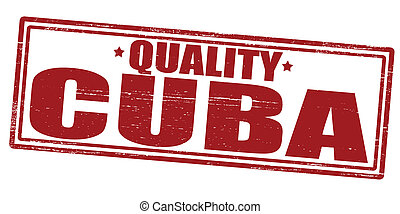 Quality Cuba - Stamp with text quality Cuba inside, vector...