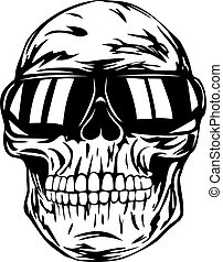 skull in sunglasses