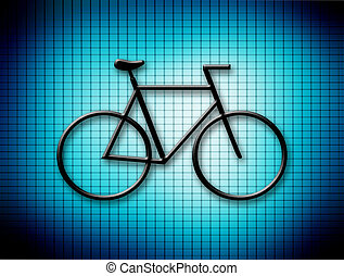 bicycle blue - blue background with bicycle. Abstract...