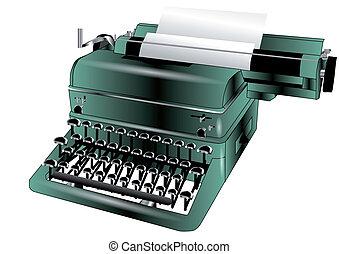 typewriter isolated on white background. 10 EPS