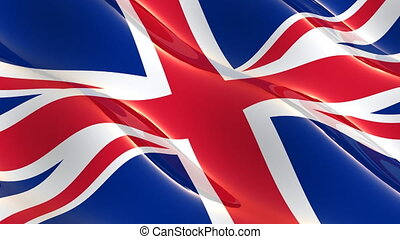 Super glossy Uk flag - seamless loop
